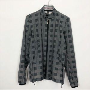 J., Lindeberg Checked Zip Up Jacket Medium